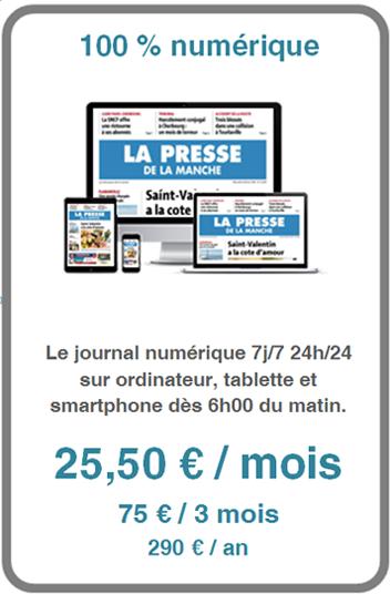Abonnement à La Presse de la Manche édition numérique
